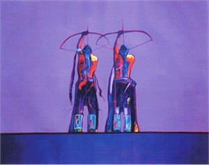 "John Neito Limited Edition Giclee on canvas:""Archers"""