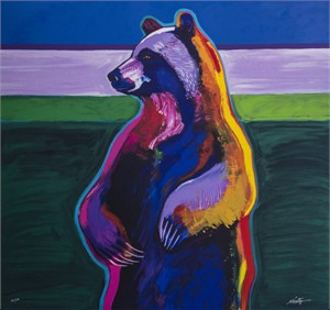 "John Neito Hand Signed Limited Edition Serigraph:""Standing Bear"""