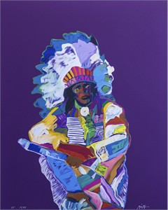 "John Neito Hand Signed Limited Edition Serigraph:""Chief"""