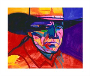 "John Neito Hand Signed and Numbered Limited Edition Canvas Giclee: ""John Nieto Self Portrait"""