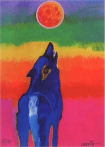 """John Neito Limited Edition Giclee on canvas:""""Cosmic Canine"""""""