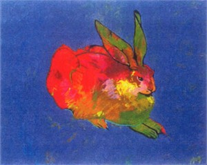 "John Neito Limited Edition Artist Proof Serigraph:""Rabbit (After Durer)"""