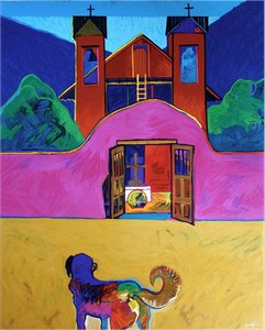 "John Neito Limited Edition Serigraph on Paper:""Santuario de Chimayo"""