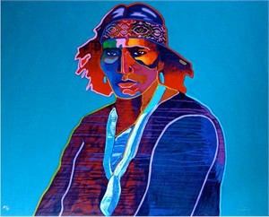 "John Neito Limited Edition Serigraph:""Taos Man"""