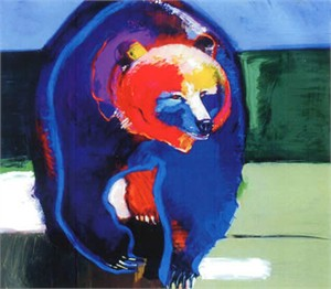 "John Neito Limited Edition Giclee on canvas:""Grizzly Power"""