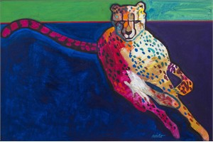 "John Neito Limited Edition Giclee on canvas:""Cheetah at 68mph"""