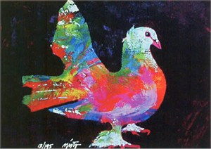 "John Neito Limited Edition Giclee on canvas:""Peace Dove"""