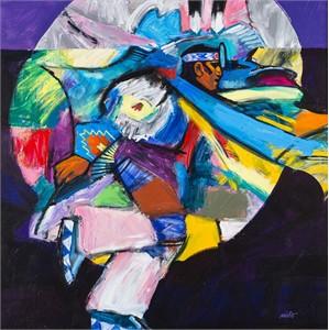 "John Nieto Open Edition Canvas Giclee:""Fancy Dancer"""