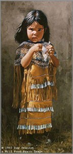 """Ray Swanson Hand Signed and Numbered Limited Edition Print :"""" Little Apache """""""