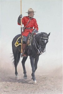 "Brent Townsend Hand Signed and Numbered Limited Edition Giclee on Paper :"" RCMP Rider """