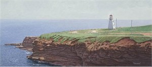 "Brent Townsend Hand Signed and Numbered Limited Edition Giclee on Paper :"" Tryon Lighthouse """
