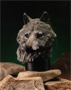 """Chapel Limited Edition Sculpture:""""Gray Wolf """""""