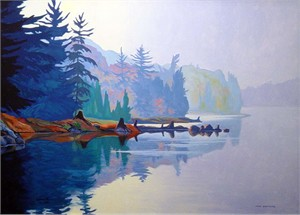 "Paul Gauthier Hand Signed and Numbered Limited Edition Giclee Canvas:"" Misty Solitude """