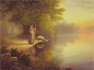 "Greg Olsen� Handsigned and Numbered Limited Edition Print: ""Beside Still Waters"""
