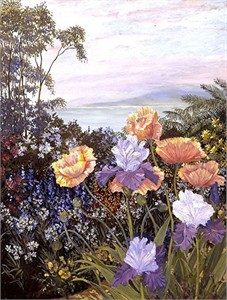 "John Powell Hand Signed and Numbered Limited Edition Serigraph on Paper:""Botanical Bay"""