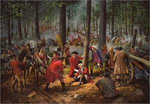 """Robert Griffing Handsigned and Numbered Limited Edition : """"The Wounding of General Braddock"""""""