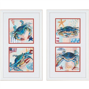 "Malanta Knowles Designer Framed Print: ""Happy Crabs Pk/2"""
