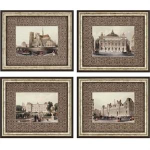 """Allom Deluxe Framed Print: """"Paris Icons Pk/4"""""""