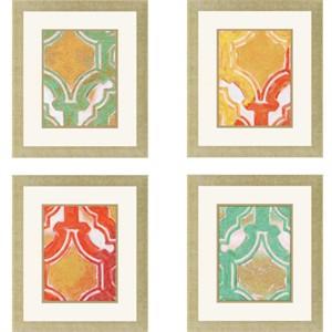"""Bobby Sikes Deluxe Framed Print: """"Dominican Fresco Pk/4"""""""