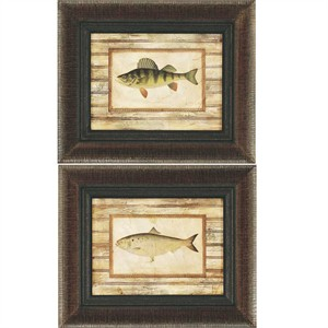 "Malanta Knowles Deluxe Framed Print: ""Perch/Shad Pk/2"""