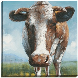 "Malanta Knowles Hand-Painted Oil: ""Happy Cow"""
