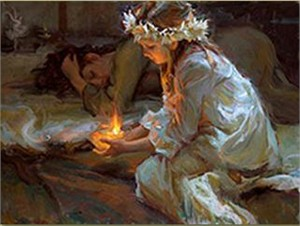"Daniel Gerhartz Handsigned and Numbered Limited Edition Giclee on Canvas : ""The Dawn of Hope"""