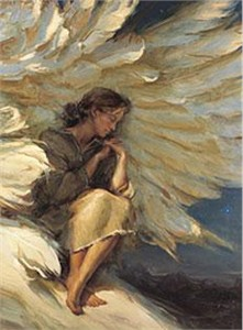 "Daniel Gerhartz Handsigned and Numbered Limited Edition Giclee on Canvas : ""In the Shadow of Your Wings"""