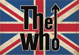 "The Who Rock Album Cover Art on Stretched Oversize Archival Canvas: ""Flag"""