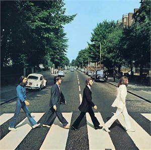"The Beatles Rock Album Cover Art on Stretched Archival Canvas: ""Abbey Road"""