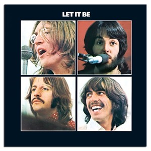 "The Beatles Rock Album Cover Art on Stretched Archival Canvas:""Let it Be"""