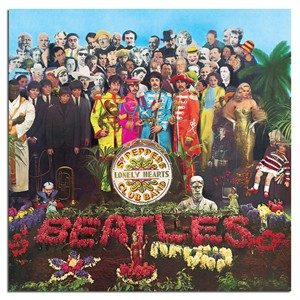 """The Beatles Rock Album Cover Art on Stretched Archival Canvas:""""Sgt. Pepper's Lonely Hearts Club Band"""""""