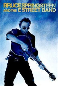 """Bruce Springsteen Rock Album Cover Art on Stretched Oversize Archival Canvas: """"Playing Hi Guitar"""""""
