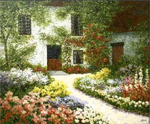 "Patrick Antonelle Limited Edition Giclee on Canvas:""French Farmhouse"""
