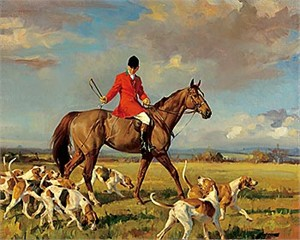 "Andre Pater Hand Numbered Limited Edition Print on Paper: ""Ned and the Long Run Hounds"""