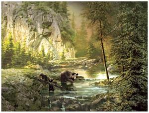 "Roberta Wesley Giclee on Canvas:""Bearly Daylight"""