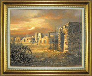 "Roberta Wesley Giclee on Canvas:""City of Gold"""