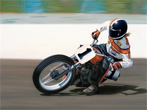 "Scott Jacobs Hand Signed and Numbered Limited Edition Canvas Giclee: ""Flat Out"""
