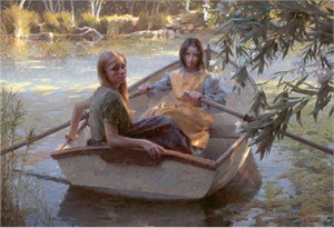 """Morgan Weistling  Handsigned & Numbered Limited Edition MasterWork Giclee Canvas  : """"Serenity"""""""