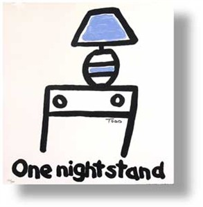 "Todd Goldman Handsigned and Numbered Limited Edition Lithograph on Paper:""One Night Stand"""