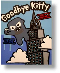 "Todd Goldman Handsigned and Numbered Limited Edition Lithograph on Paper:""Goodbye Kitty King Kong"""