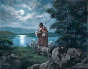 "James Seward Artist Hand Signed Open Edition Canvas Giclee: ""The Lord is My Shepherd """