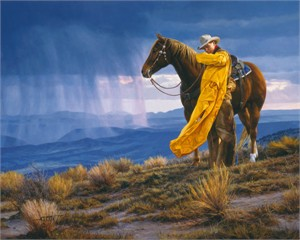 """Tim Cox Hand Signed and Numbered Limted Edition Canvas:""""A Storm Across the Valley"""""""