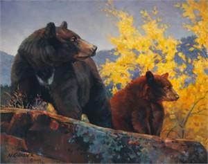 "Nancy Glazier Hand Signed Open Edition Giclee on Canvas: ""The Cinnamon Bear """