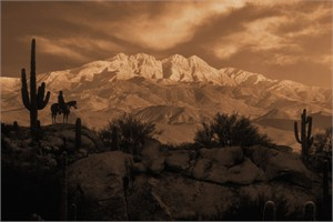 "Robert Dawson Fine Art Open Edition Canvas Giclee: ""4 Peaks"""