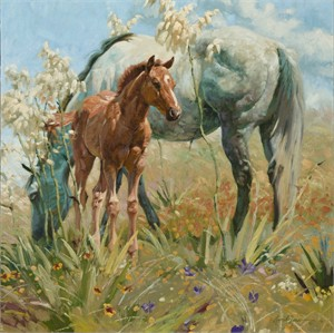 "Bruce Greene Artist Hand Signed Open Edition Print and Limted Canvas Giclee:"" Springtime on the Llano Estacado"""