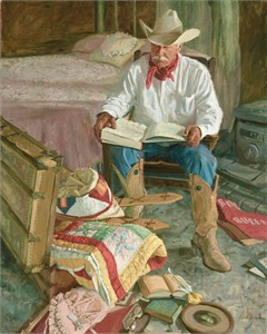 """Bruce Greene Artist Hand Signed Open Edition Print and Limted Canvas Giclee:""""The Memories in Grandmother's Trunk"""""""