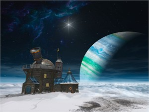 """Cynthia Decker Artist Hand Signed Open Edition Museum Wrap Canvas Giclee: """"Observatory"""""""