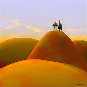 """Cynthia Decker Artist Hand Signed Open Edition Museum Wrap Canvas Giclee: """"Toscana 2"""""""