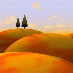 """Cynthia Decker Artist Hand Signed Open Edition Museum Wrap Canvas Giclee: """"Toscana I"""""""