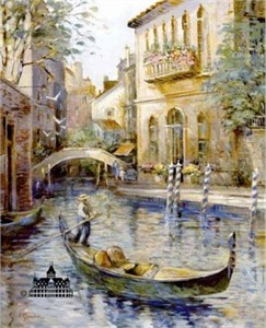 "L. Gordon Handsigned and Numbered Limited Edition Print:""Venetian Colors"""